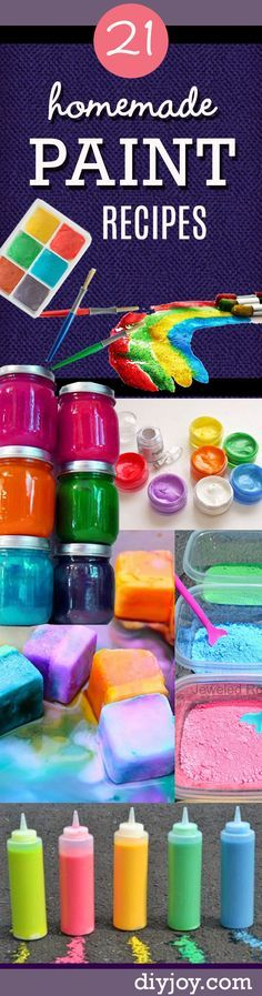 Homemade Crafts for Kids - Fun DIY Paint Recipes Your Kids Will Love - Fun and Creative Paints You Can Make For Children - Easy Crafts for Boys and Girls