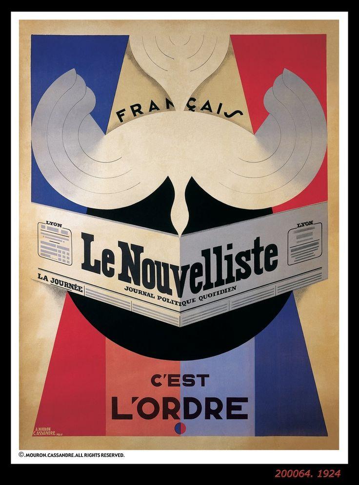 LE NOUVELLISTE, A.M. Cassandre, 1924
