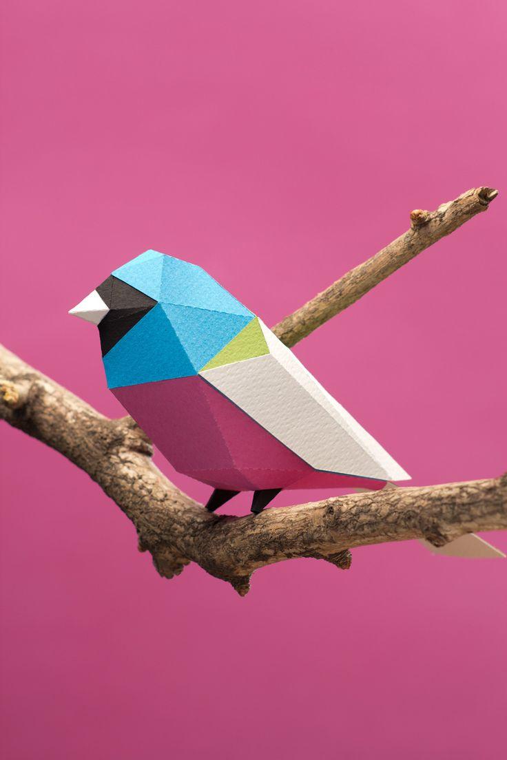 Aves de papel/ Paper birds on Behance