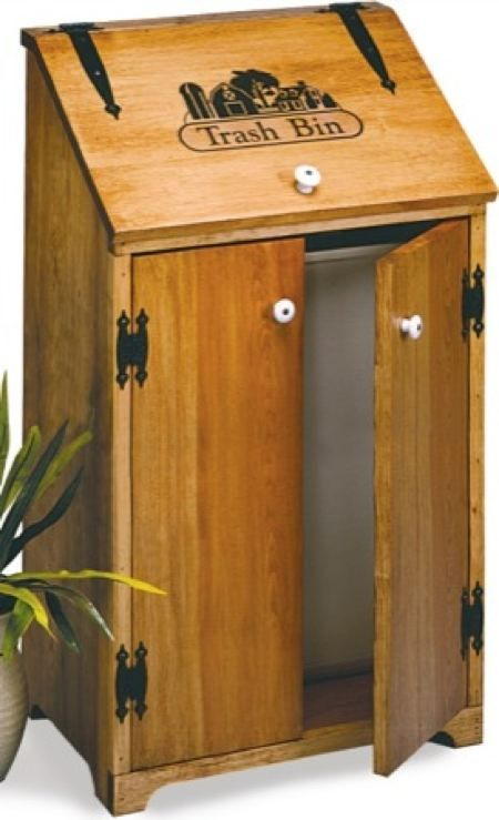 Woodworking Plans Kitchen Trash Can