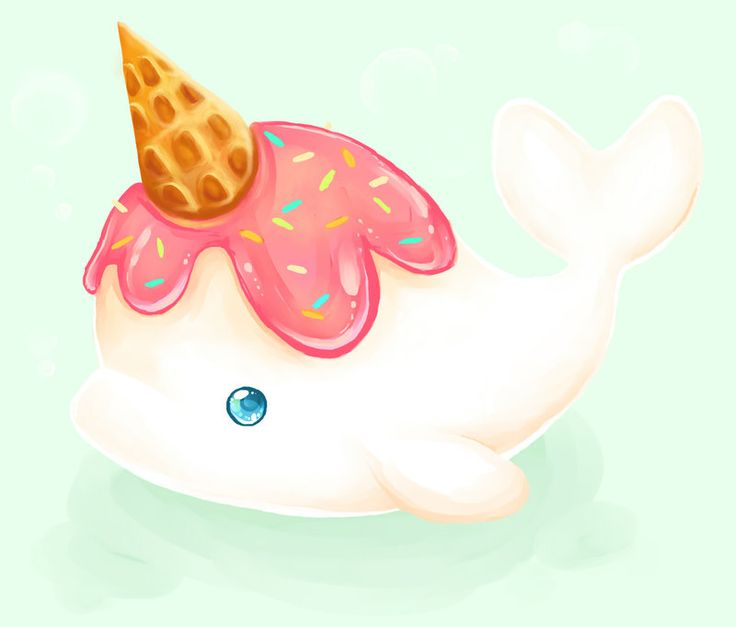 little vanilla narwhal by mechanical2127 d5a9nkp Cute Narwhal