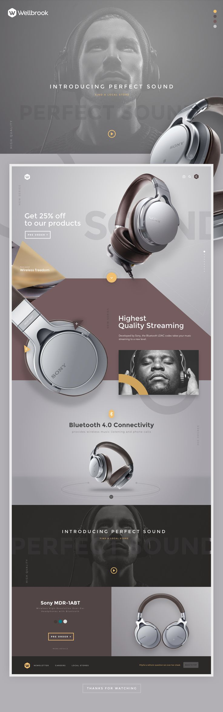 Headphones on Behance