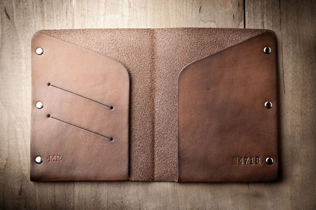 Leather Passport Wallet by Mr Lentz 5