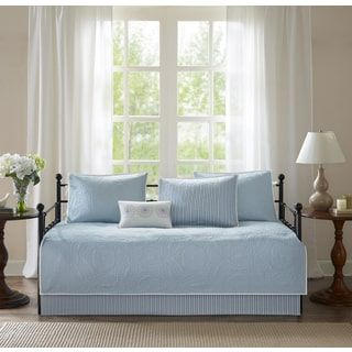 Shop for Madison Park Brenna Blue Printed 6 Piece Day Bed Cover Set. Get free delivery at Overstock.com - Your Online Fashion Bedding Store! Get 5% in rewards with Club O! - 19869808