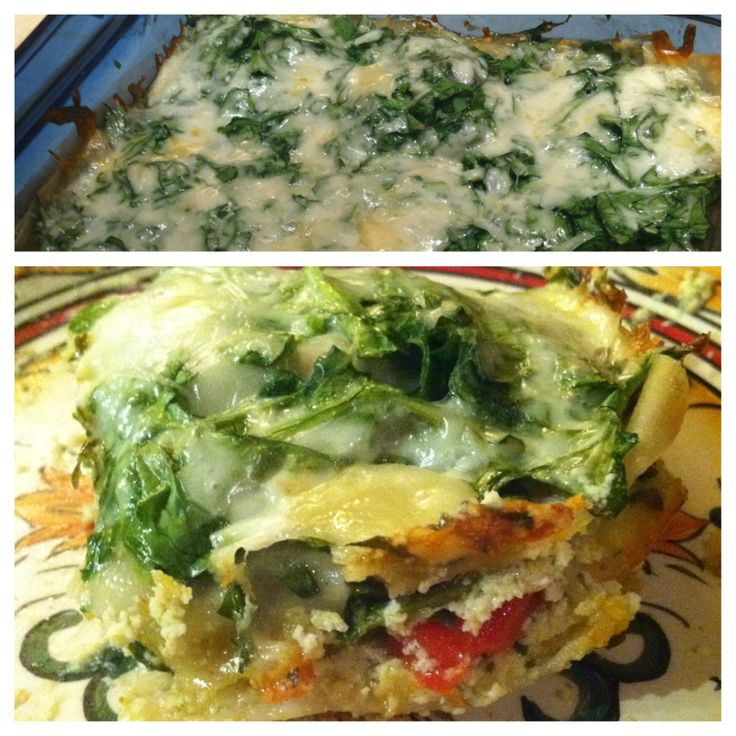 Lasagna with ricotta, Roasted red peppers and Wontons on Pinterest