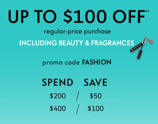 Neiman Marcus: $50 off $200(including beauty)