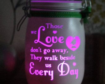 Glass personalised candle memory Jar If Tears by Jarofheartsgifts