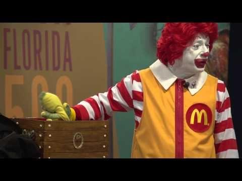 Reading with Ronald McDonald
