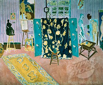 Atelier of the Painter in pink by Henri Matisse