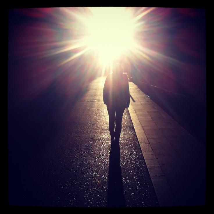 Caminando por las calles de Barcelona. Realizada con Iphone 4