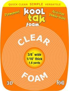 *Kool Tak DOUBLE-SIDED TAPE Clear Foam Adhesive