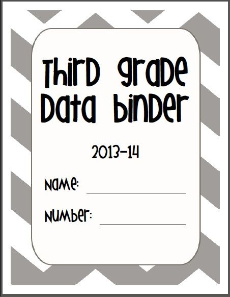 TBP: Student Data Binder - free download, completely customizable to your needs! Not just for third grade :)