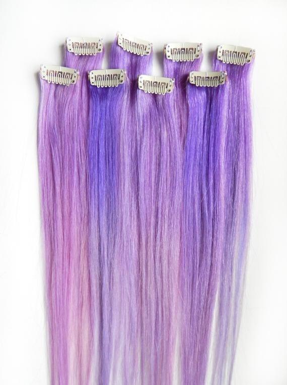 Unicorn Gold Lilac Purple Hair Ties