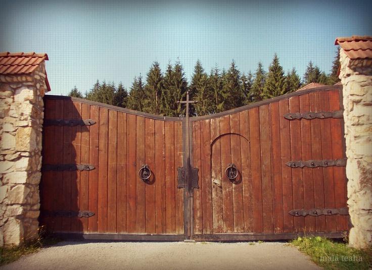 wooden door- Lupsa Monastery, Romania