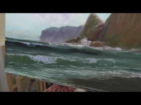 comment peindre la mer rapide et facile peindre la mer a l huile au couteau peindre a l. Black Bedroom Furniture Sets. Home Design Ideas