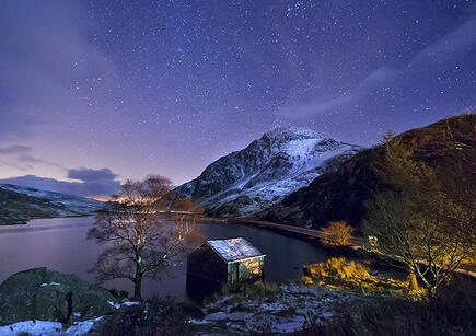 'Snow-Capped Tryfan by Starlight' - Ogwen Valley, Snowdonia where I met my hubs