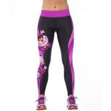 2016 nuove donne di modo a vita alta pantaloni di sport di fitness 3d stampato stretch in esecuzione fitness leggings(China (Mainland))