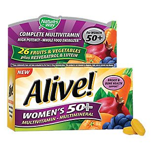 Alive! Womens 50+ Multivitamin & Multimineral (50 Tablets)  by Natures Way at the Vitamin Shoppe