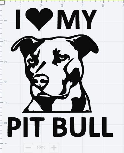 Love My Pitbull Design Svg Eps Dxf Studio 3 Cut File