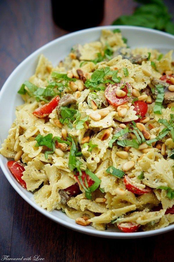 Pesto pasta salad   – *Nudelsalate für jeden Tag*