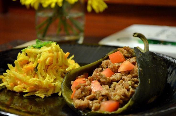 Paleo Chorizo-Stuffed Peppers with Green Chile Ranchero Sauce