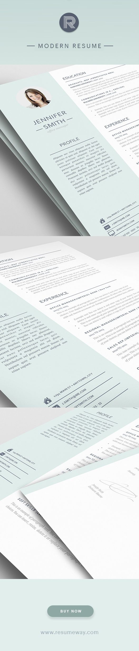 1000  images about modern resume templates on pinterest