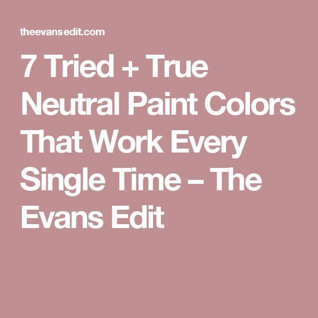 Most Popular Interior Neutral Paint Colors: Best 20+ Neutral Paint Colors Ideas On Pinterest
