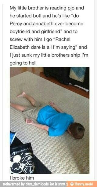 Or Tartarus or eternal punishment. I can't believe you would even PRETEND to sink that shipPERCABETH FOREVER