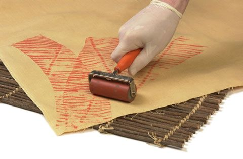 lots of great printing ideas with brayers/rolling pins here.  Also good backgrounds for cards.
