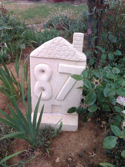 House numbers - Helen's limestone sculptures