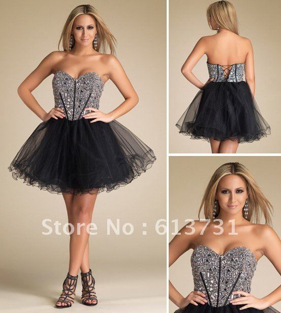 Find More Graduation Dresses Information about Free Shipping  2012 Latest  Sexy Sweetheart  Crystal Beading  Black Short  Graduation Dresses DJ 7521,High Quality free pictures of wedding dresses,China dresses fashion Suppliers, Cheap dj light from Suzhou Babyonline Dress Store on Aliexpress.com