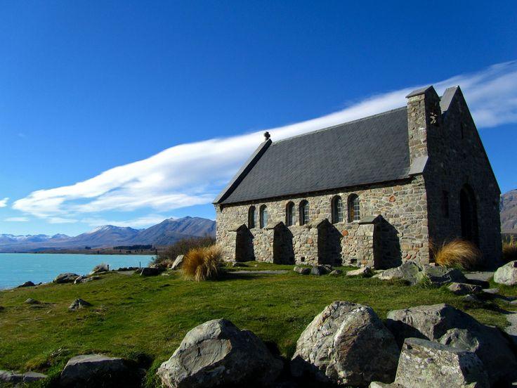 Lake Tekapo, Church of the Good Sheppard. NZ