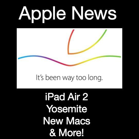 Apple News: iPad Air 2, Yosemite, New iMac and More!  http://www.wonderoftech.com/apple-news-october-2014/  Learn about the new iPads, iMac, Yosemite and more from Apple.