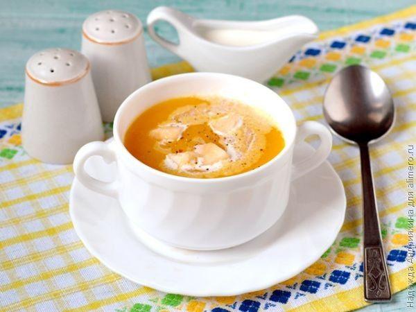 Крем-суп из тыквы с грушами