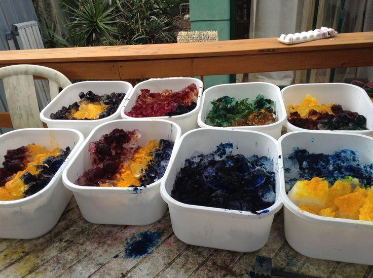 Ice dye preparation, reveal tomorrow