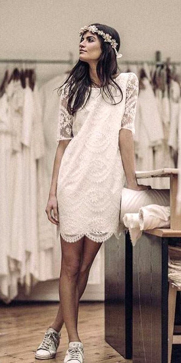 lace short bridal dresses 3