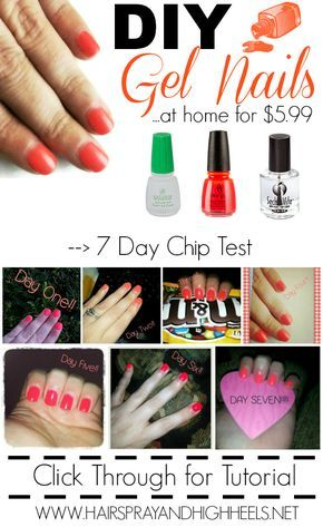 This DIY Gel Nails tutorial looks really easy and lasts for DAYS! Love this!