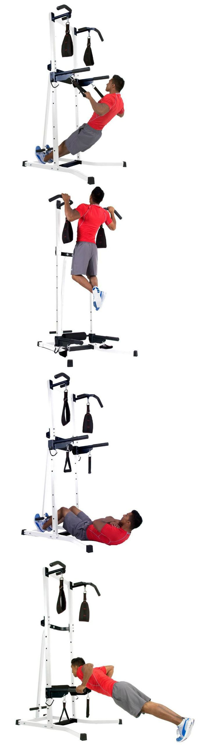 Home Gyms 158923: Power Tower Exercise Station Home Gym Pull Up Bar Dip Chin Sit Fitness Machine BUY IT NOW ONLY: $249.75