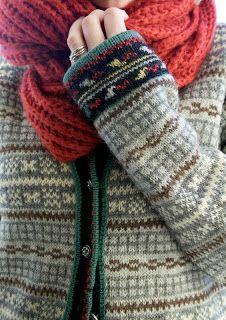 Livs Lyst: *SELJORDKUFTA* << knitting colourwork cardigan sweater colour combination inspiration