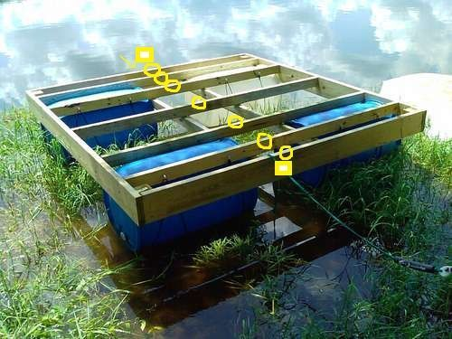 Floating Dock With Barrels Updated Pictures Of