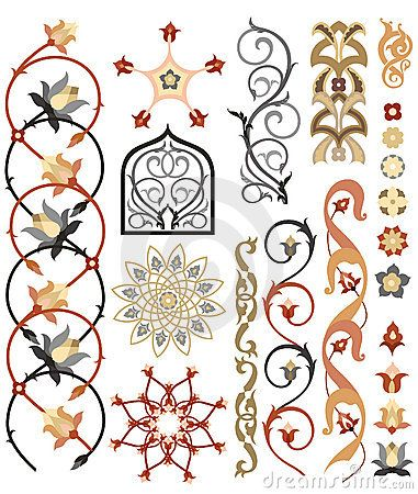 Design elements of Islamic art Pattern Use these designs as influence for the henna design