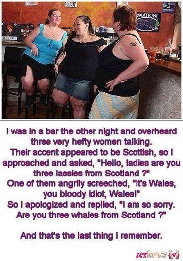 I spoke 3 ladies at the bar....