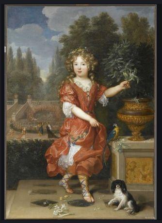 피에르 미냐르  블루아 공주  캔버스에 유채, 138 x 98 cm  루브르 박물관 소장      루이14세의 딸인 블루아 공주의 우아함과 프랑스 궁정의 아름다움을 잘 표현한 그림이다.  젊음의 우의화 그림으로 유명하다.