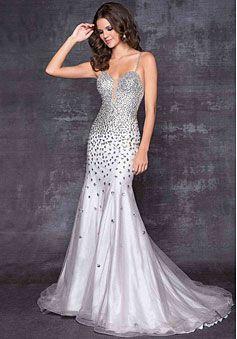 Mermaid/trumpet Chiffon Sweetheart Natural Waist Low Back Floor-length Sleeveless Beading Sequins Split Prom Dress - gopromdres.com