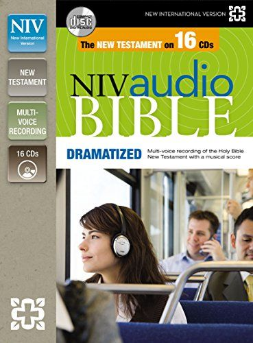 NIV, New Testament Audio Bible, Dramatized, Audio CD:   The New International Version of the Bible is today's most popular modern-English translation. The NIV New Testament Audio Bible brings the Bible to life with this true-to-text dramatization of the New Testament. The fully orchestrated background enriches the text reading and enhances the total experience. Digitally engineered from start to finish, this audio Bible delivers an inspiring and uplifting encounter with the Word of ...