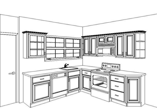 L Shaped Kitchen Layouts mesmerizing small l shaped island kitchen layout with wooden