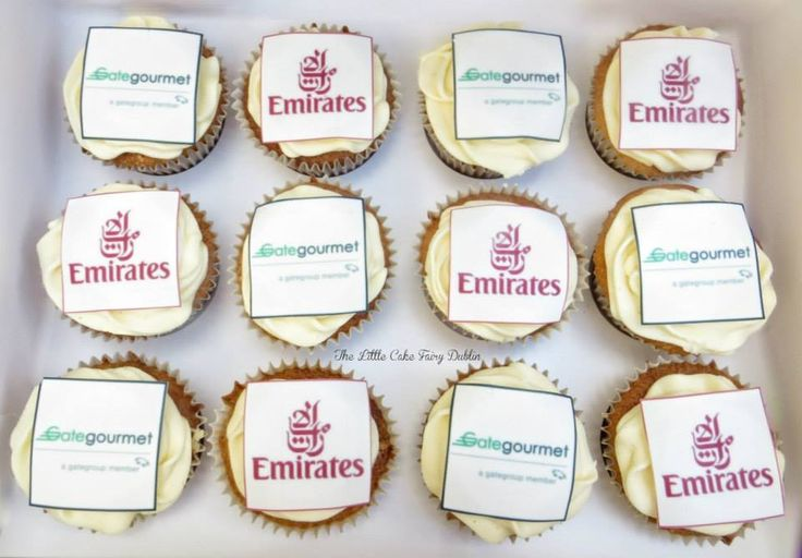 Corporate Cupcakes for Gate Gourmet and Emirates Airlines  www.littlecakefairydublin.com www.facebook.com/littlecakefairydublin