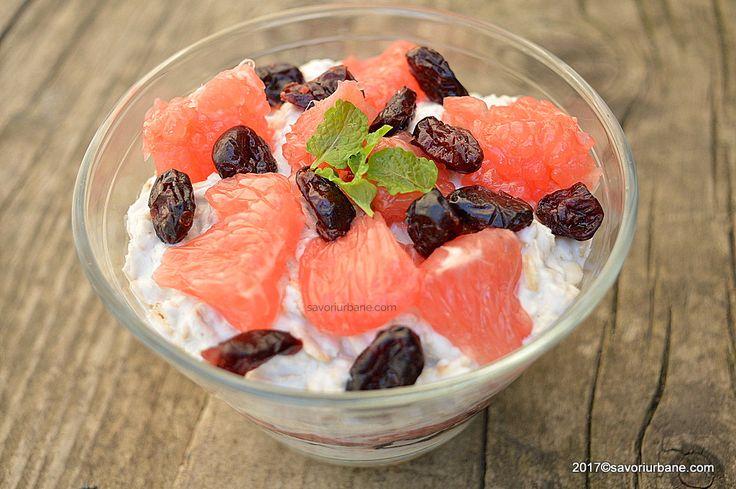overnight oats cu grepfruit roz iaurt si merisoare (1)