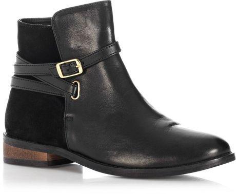 Oasis Black Leila Leather Chelsea Boot