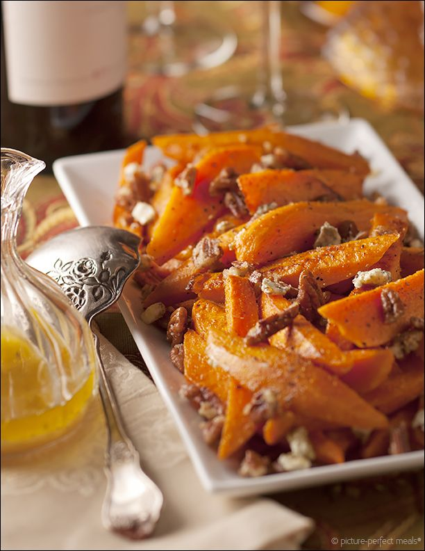 Roasted Sweet Potatoes with Pecans and Blue CheeseBlue Cheese, Holiday ...